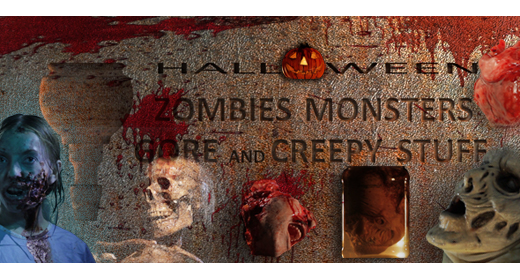 Halloween Zombies Monsters Gore and Creepy Stuff
