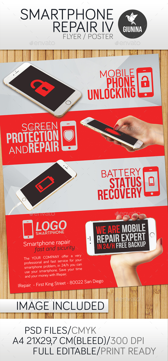 Smartphone Repair 4 Flyer/Poster - Commerce Flyers