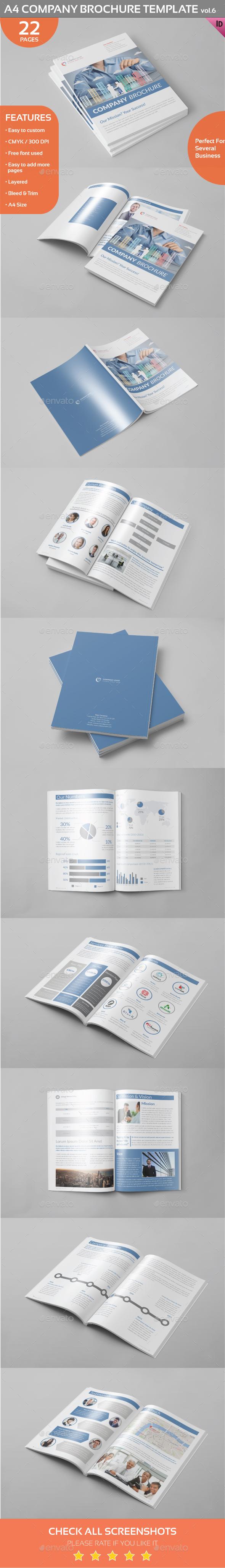 A4 Company Brochure Template vol.6 - Corporate Brochures
