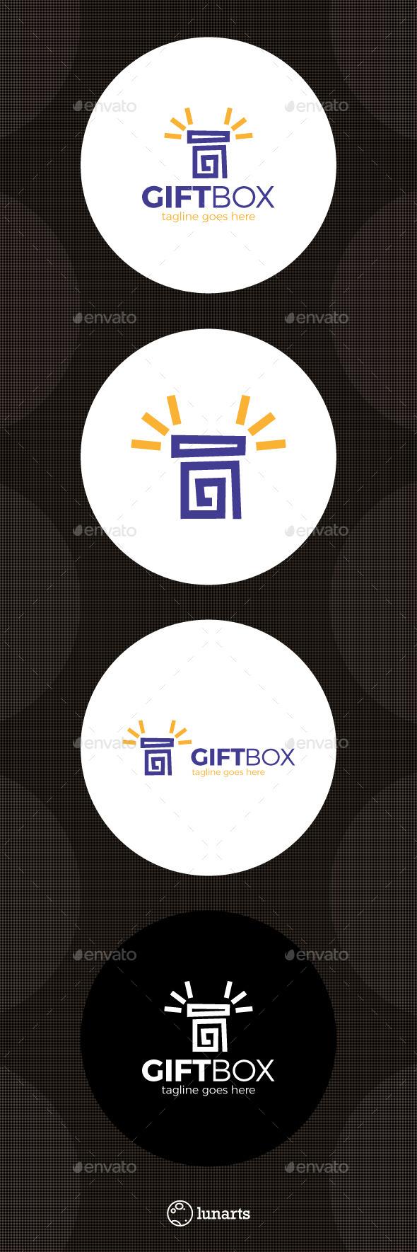 Gift Box Logo - Symbols Logo Templates