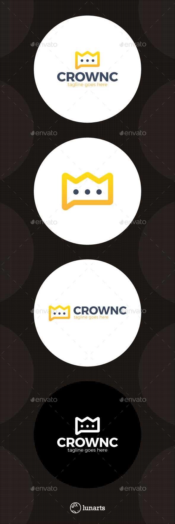Crown Chat Logo - Symbols Logo Templates