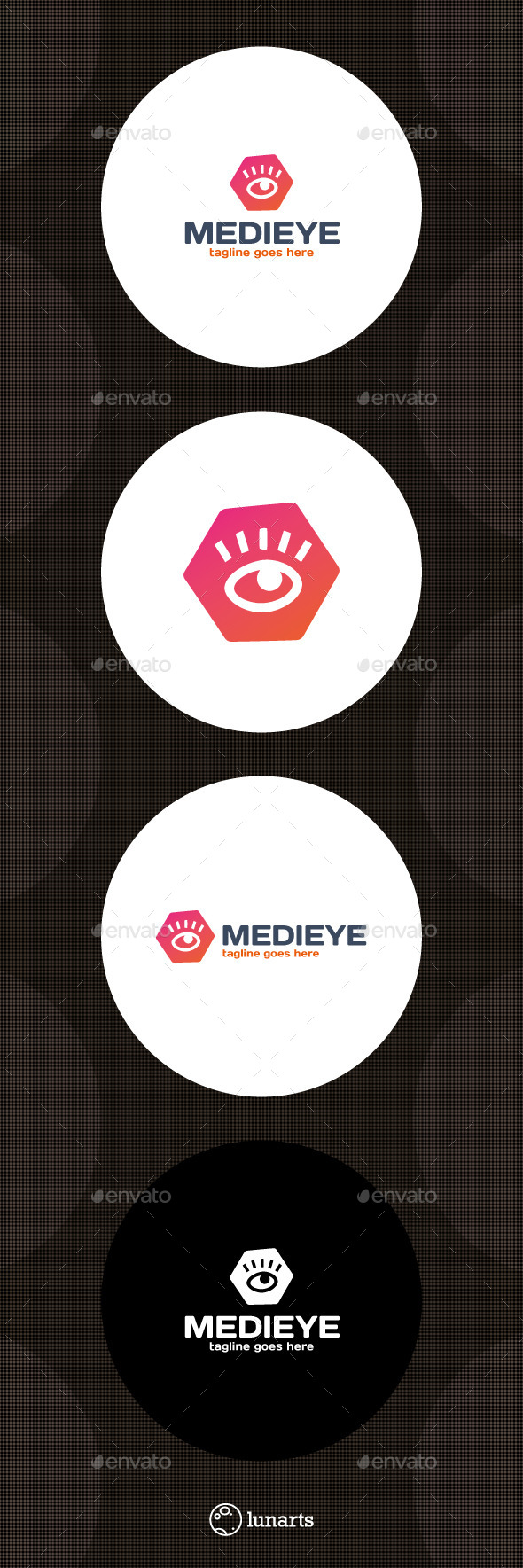 Media Eye Logo - Hexagon - Abstract Logo Templates