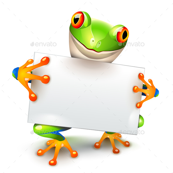 Tree Frog Message - Animals Characters
