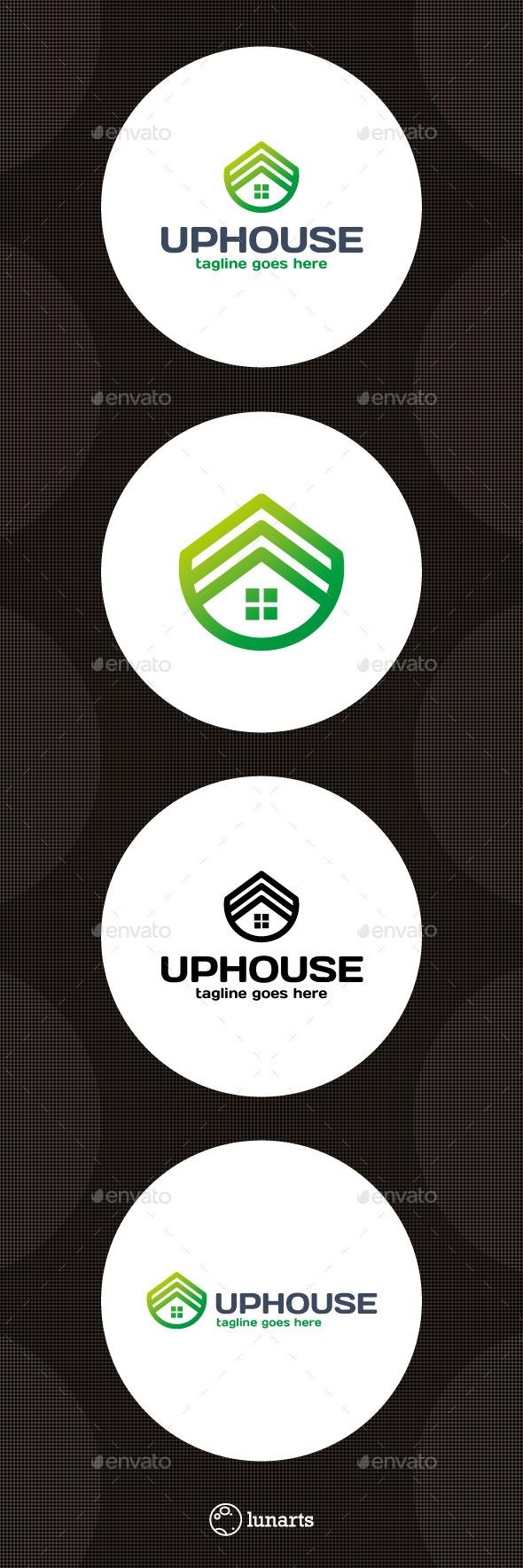 Estate Growth Logo - Top House - Symbols Logo Templates