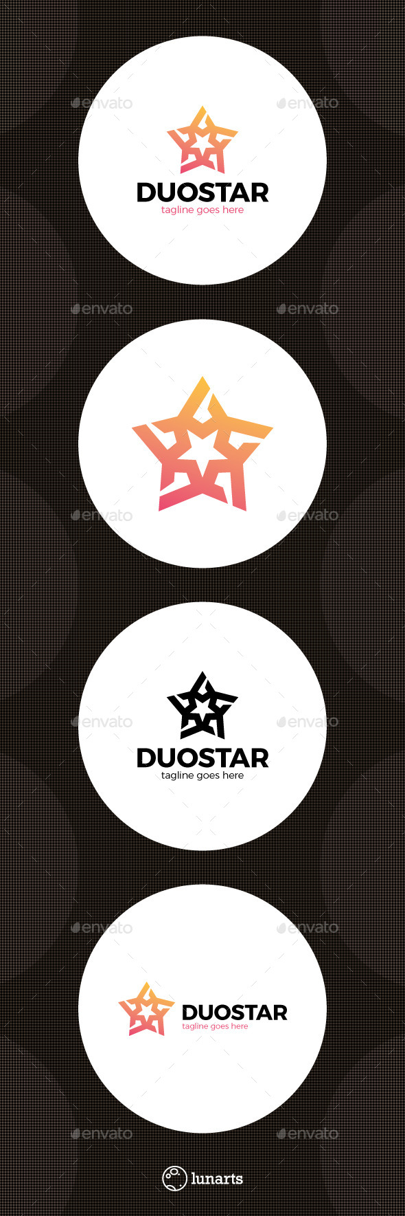 Double Star Logo - Symbols Logo Templates