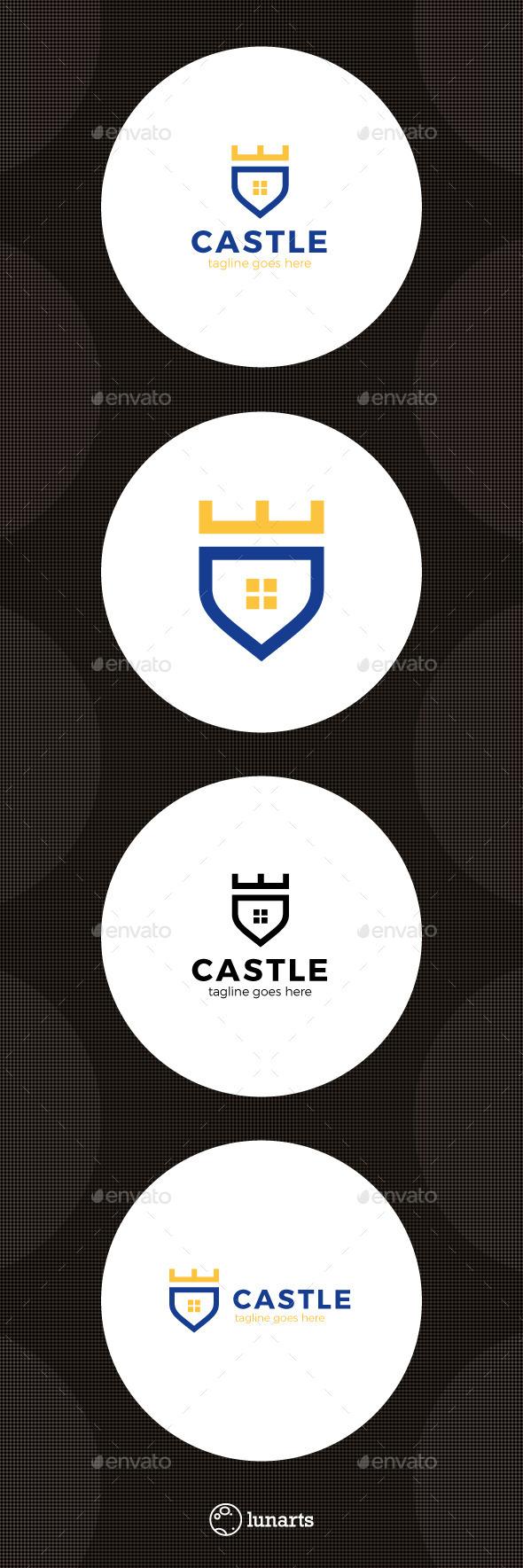 Castle Shield Logo - Symbols Logo Templates