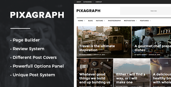 Pixagraph – Responsive WordPress News/Blog Theme