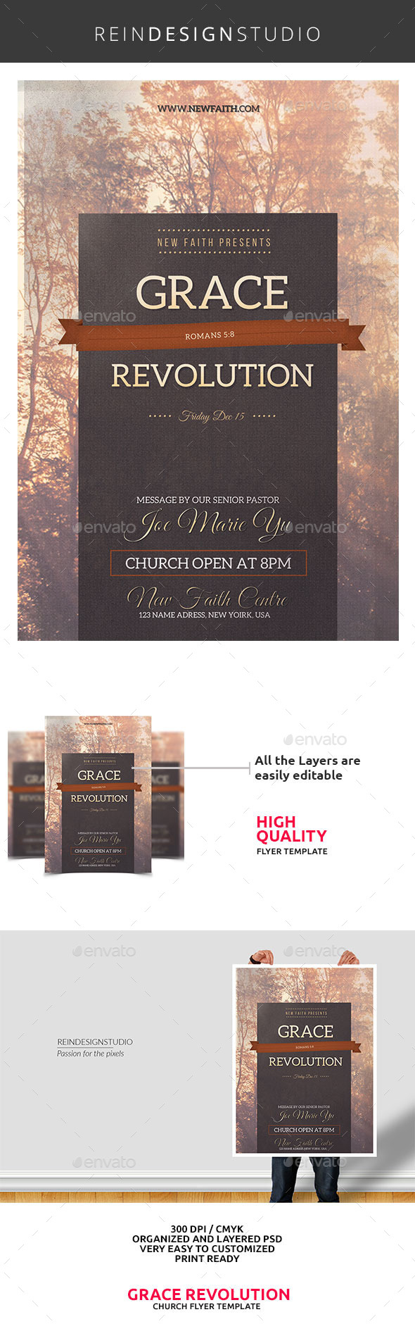 Grace Revolution Church Flyer - Church Flyers