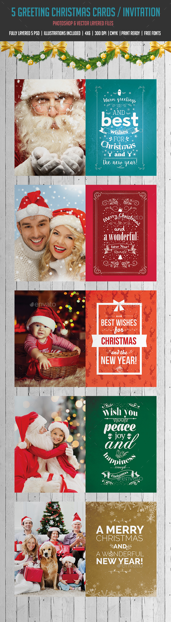 Christmas Card Family By Madridnyc Graphicriver