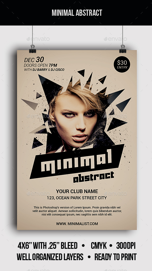 Minimal Abstract - Flyer - Clubs & Parties Events