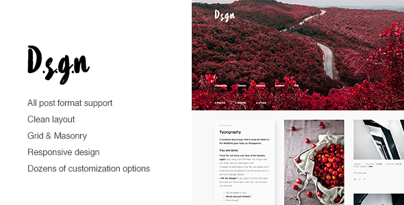 D.S.G.N – Grid Based, Gallery Tumblr Theme