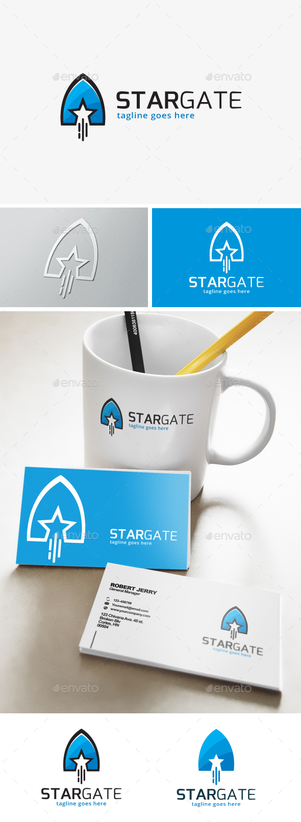 Star Gate Logo - Objects Logo Templates