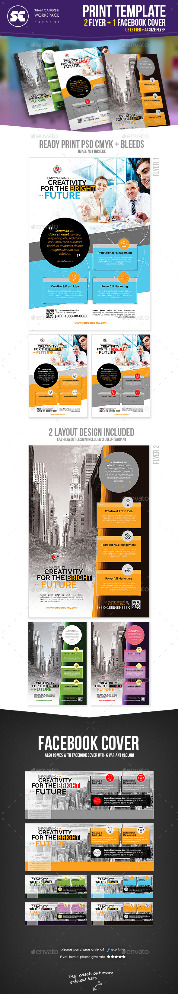 Corporate Flyer + Facebook Cover - Corporate Flyers