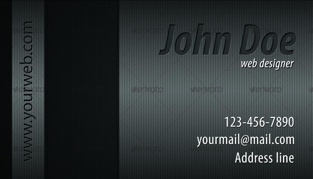 Metallic Shadow Fx Business Card