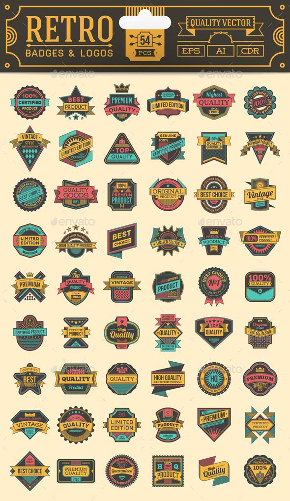 Retro Badges and Logos - Vectors