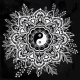 Ornate Flower With Yin And Yang Symbol.  - GraphicRiver Item for Sale