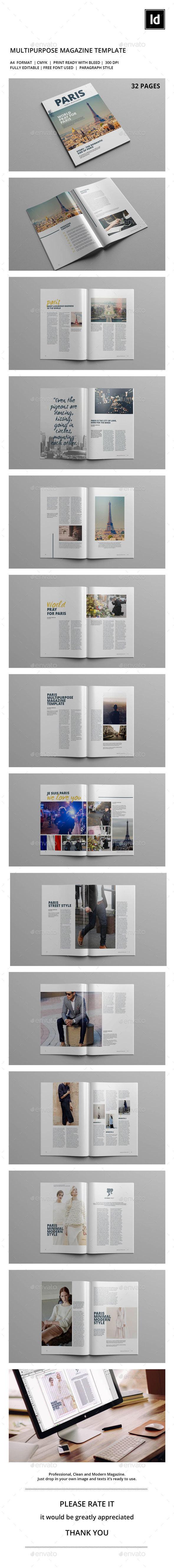 Paris Magazine - Magazines Print Templates