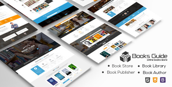 Book Guide - Books Library eCommerce Store - Retail Site Templates