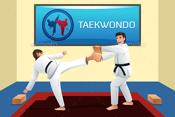 People Practicing Taekwondo - Sports/Activity Conceptual