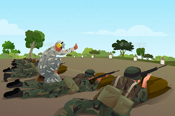Soldiers in Military Training - Sports/Activity Conceptual