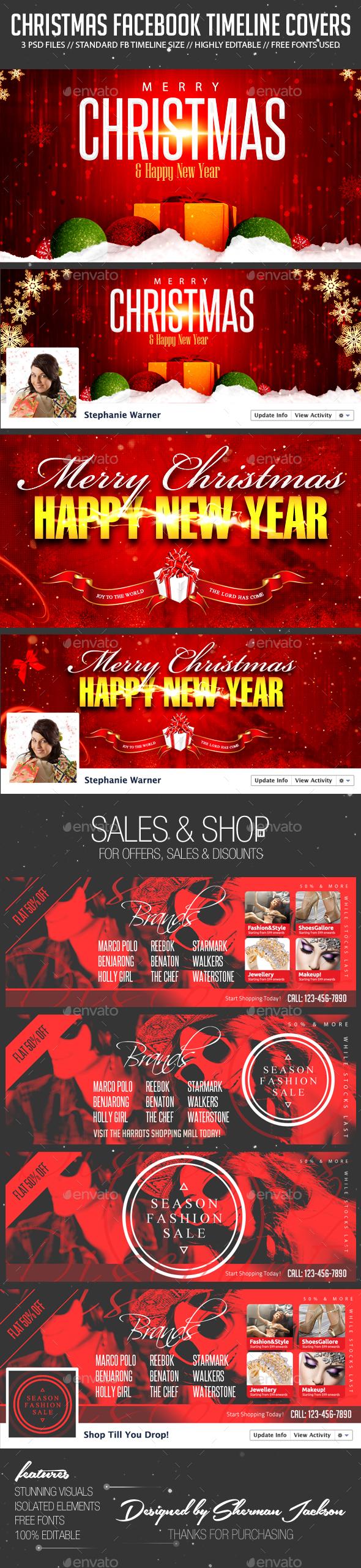 Christmas & Seasonal Sales FB Cover Photos - Facebook Timeline Covers Social Media
