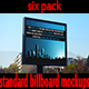 Six Pack Standard Billboard Mockups - GraphicRiver Item for Sale