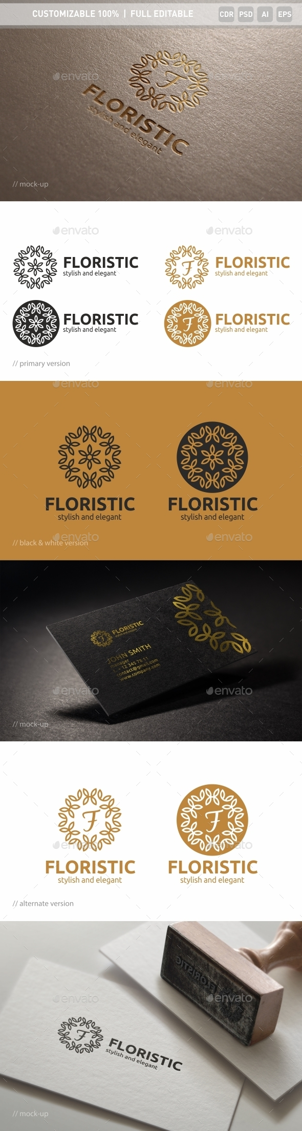 Floristic Logo Template - Objects Logo Templates