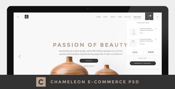 Chameleon Shop PSD Template - Shopping Retail