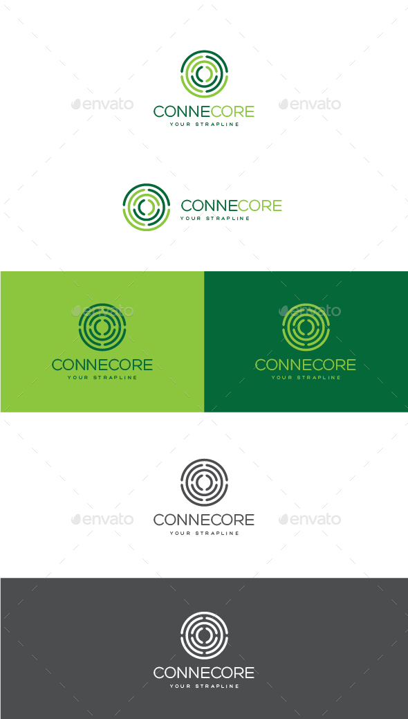 Connecore Logo - Letters Logo Templates