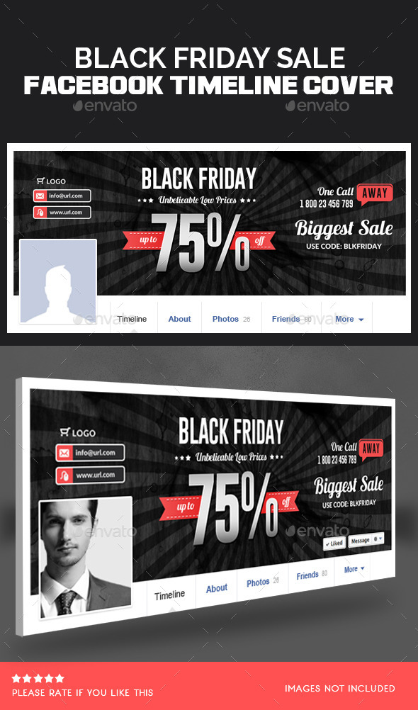 Black Friday Facebook Timeline Cover  - Facebook Timeline Covers Social Media