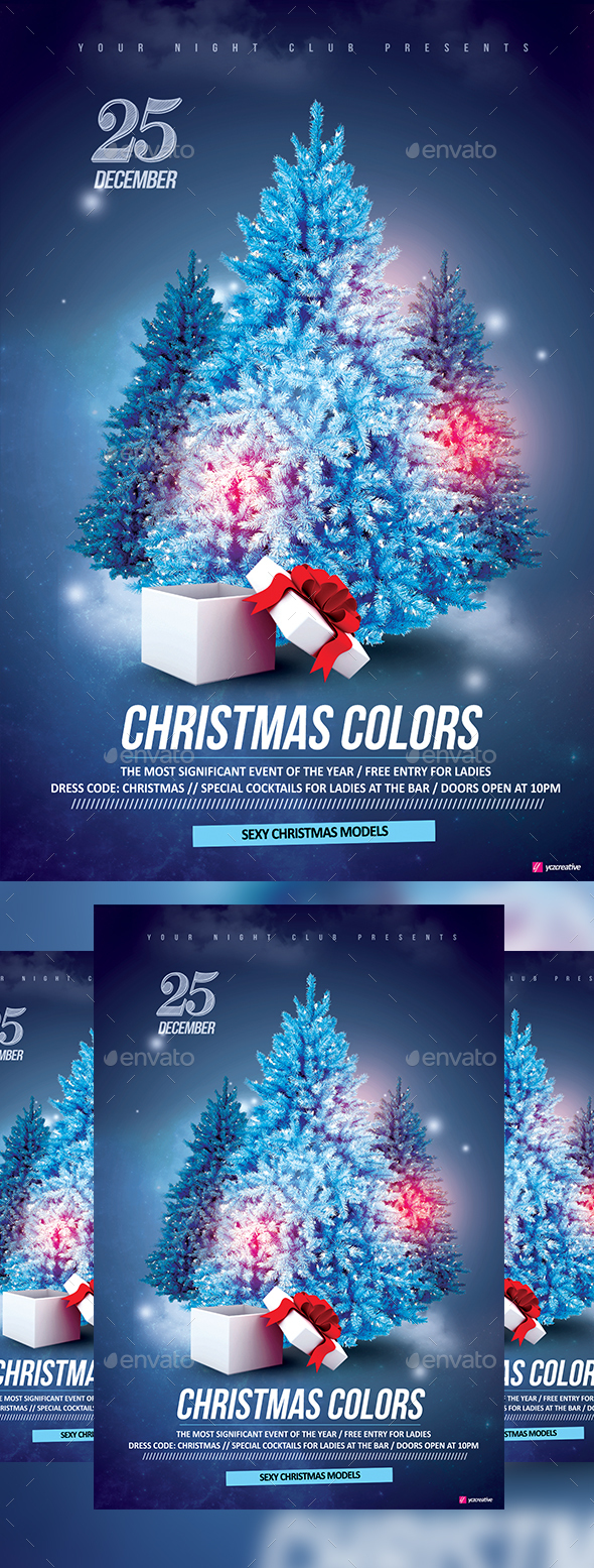 Christmas Colors - Events Flyers