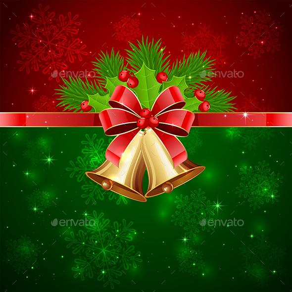 Christmas Background with Decorative Elements - Christmas Seasons/Holidays