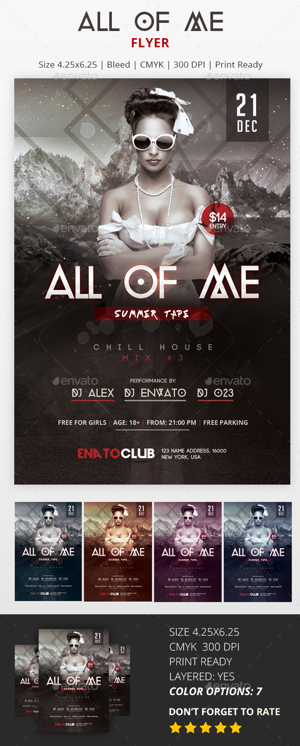 All Of Me - PSD Flyer - Clubs & Parties Events