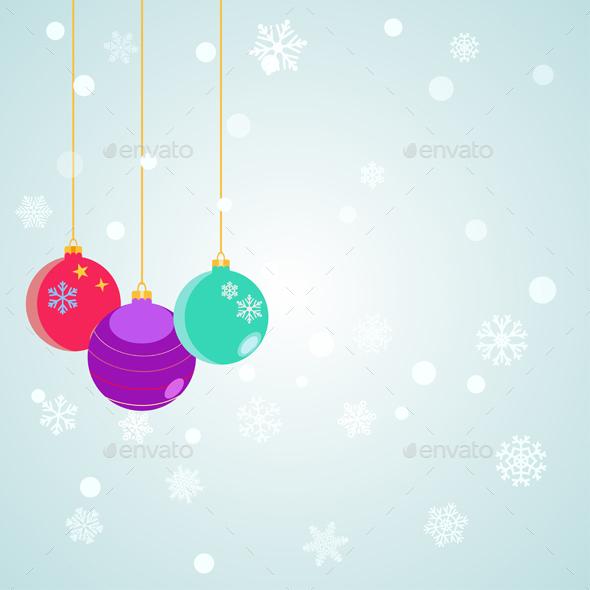 Hanging Christmas Balls - Christmas Seasons/Holidays