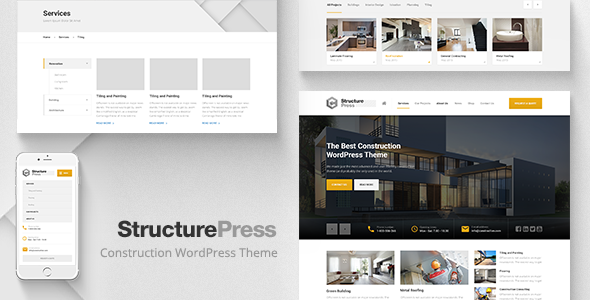 StructurePress – Construction, Building WP Theme