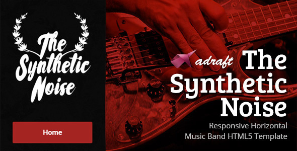 The Synthetic Noise - Horizontal HTML5 Template - Music and Bands Entertainment