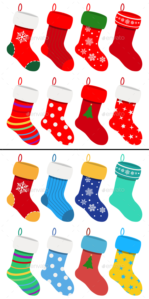Set Of Christmas Socks - Christmas Seasons/Holidays