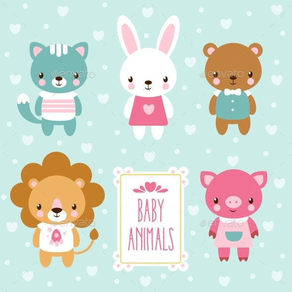 Set of Baby Animals - Animals Characters