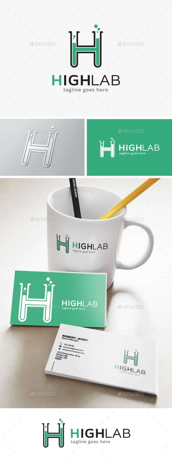 Lab Letter H Logo - Letters Logo Templates