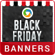 HTML5 Black Friday sale Banners - GWD - 7 Sizes - CodeCanyon Item for Sale