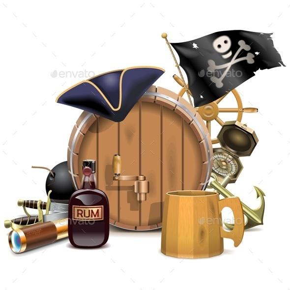 Pirate Bar Concept - Travel Conceptual
