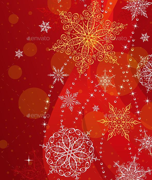 Christmas Red Vertical Greeting Card - Christmas Seasons/Holidays