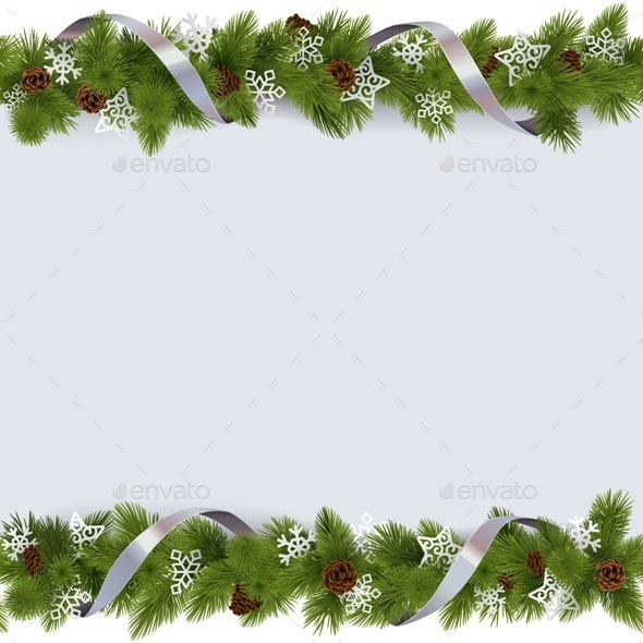 Christmas Border with Snowflakes - Christmas Seasons/Holidays
