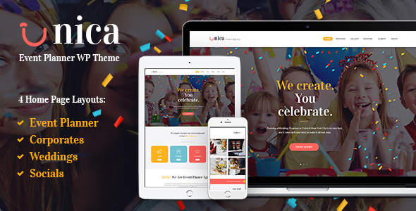 Unica – Event Planning Agency Theme