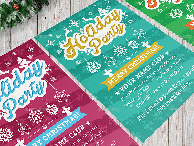 Holiday Party Flyer Template 02 By Wutip2 | Graphicriver