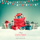 Holiday Christmas Background with a Sack  - GraphicRiver Item for Sale