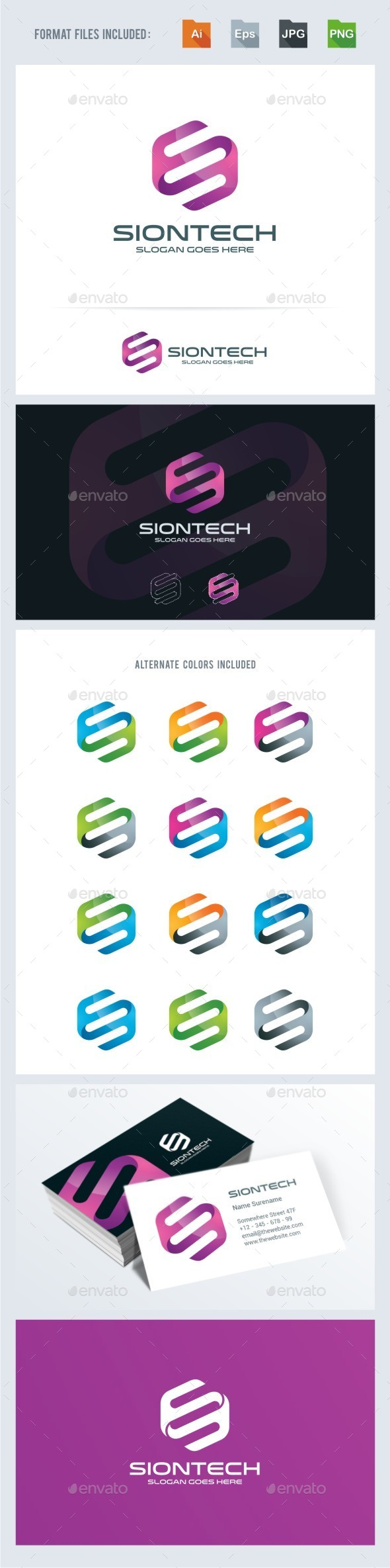 S Letter - Technology Logo Template - Letters Logo Templates