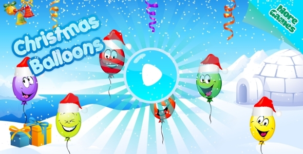 Christmas Balloons - HTML5 Mobile Game (Capx) - CodeCanyon Item for Sale