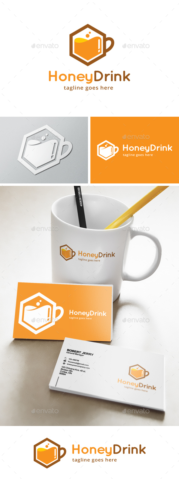 Honey Drink Logo - Food Logo Templates