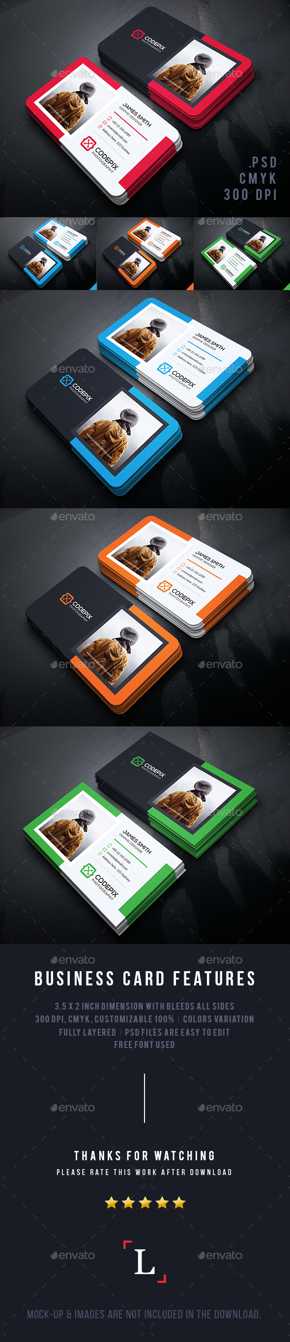 Personal Photography Business Card - Business Cards Print Templates